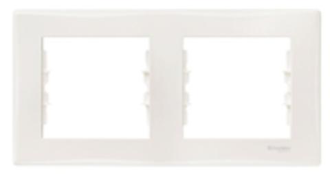 Рамка на 2 поста, горизонтальная. Цвет бежевый. Schneider Electric Sedna. SDN5800347