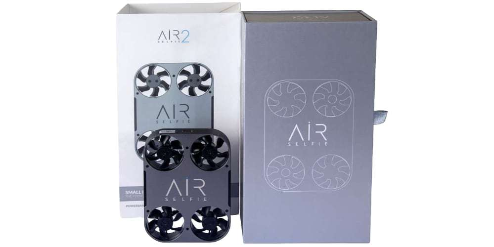 Квадрокоптер Airselfie 2 Power Edition (black) коробка