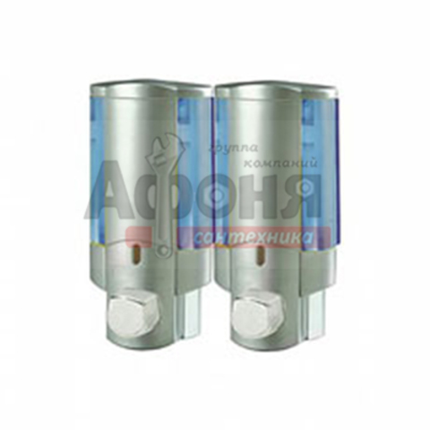407-1/L Дозатор для жидкого мыла настенный двойной
