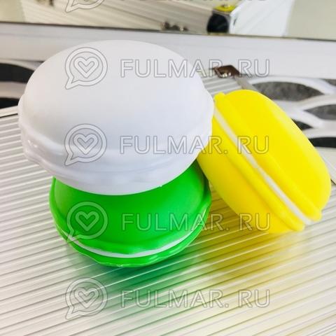 Набор Слаймы антистресс макаронс с блестками маленькие Macarons 3 штуки