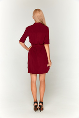 Бордовое платье-рубашка Lolly