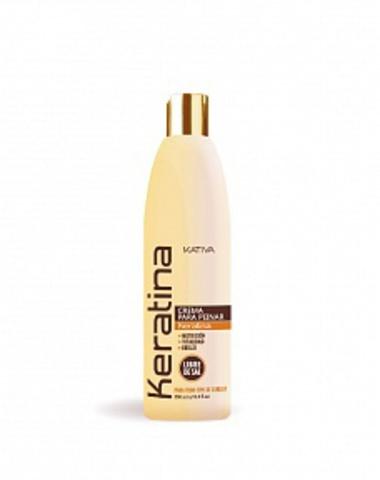Кератиновый укрепляющий крем для укладки для всех типов волос KERATINA, 250 мл., Kativa