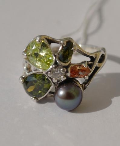 Колибри (кольцо  из серебра)