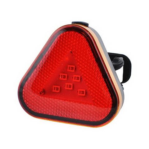 Фонарь для велосипеда Baisk BSK-2288-9SMD, треугольник габарит, ЗУ microUSB, встроен. аккумулятор