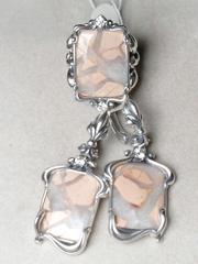 Луара (кольцо + серьги из серебра)