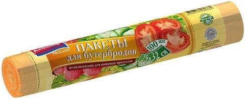 """Пакеты для бутербродов """"Prolang"""" 25*32см 100шт"""