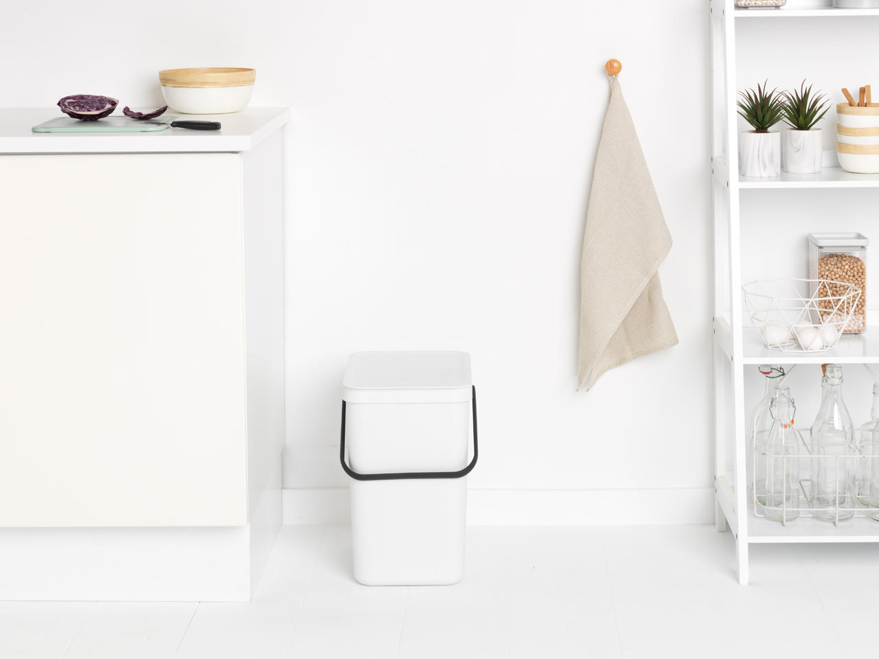 Встраиваемое мусорное ведро Sort & Go (25 л), Белый, арт. 129926 - фото 1