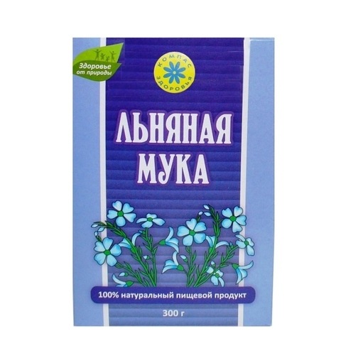 Мука Льняная, 300 гр. (Компас Здоровья)