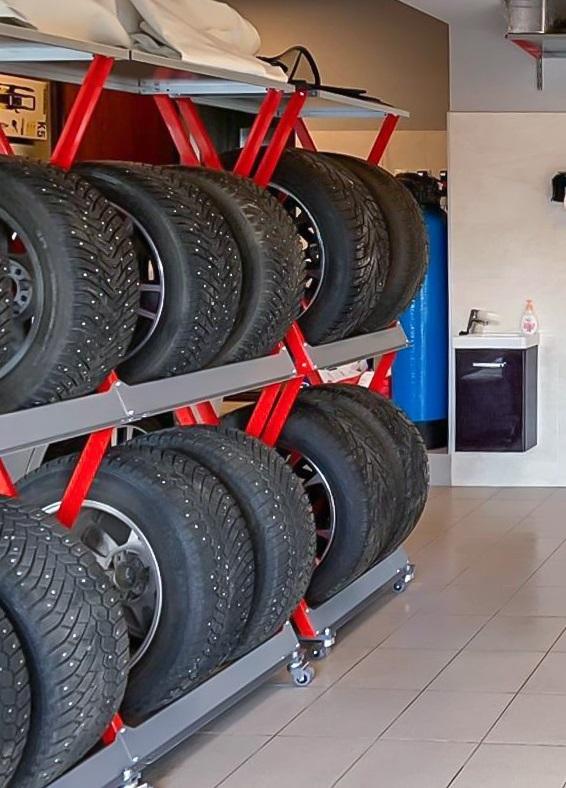 стеллаж для гаража для шин