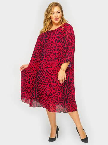 Платье из шифона Леопардовый принт