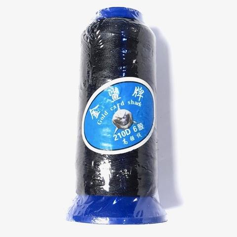 Нить для бус  большая катушка 0,6 мм цвет черный