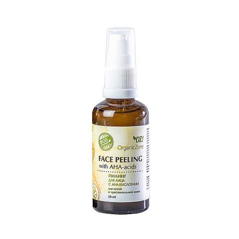 Пилинг для сухой кожи с AHA-кислотами | 50 мл | Organic Zone