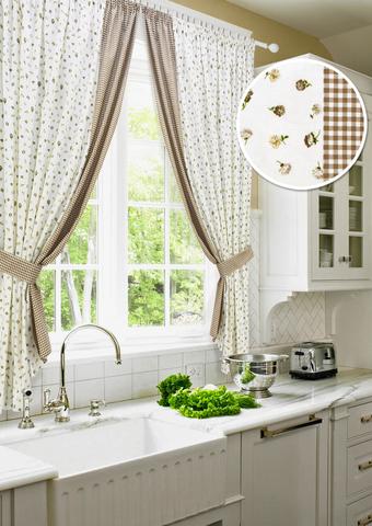 Комплект штор для кухни Карен с подхватами