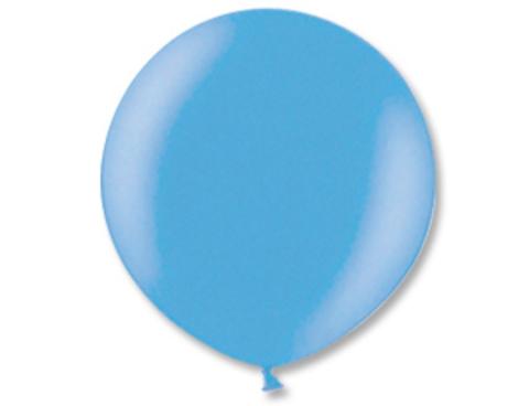 Большой шар металлик голубой