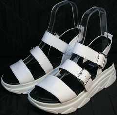 Массивные сандали в спортивном стиле женские Evromoda 3078-107 Sport White