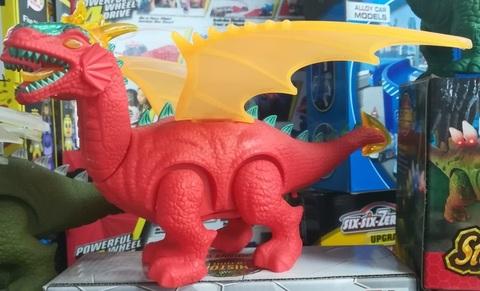 Красный дракон с крыльями 25 СМ