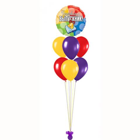 Фонтан из воздушных шаров на Выпускной