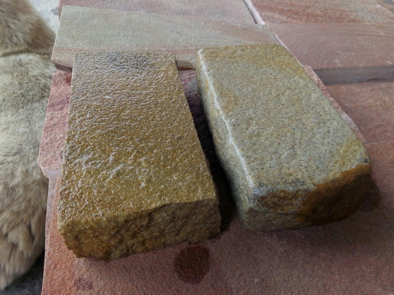 Набор Брусчатки песчаник колото-галтованный Ясень образец