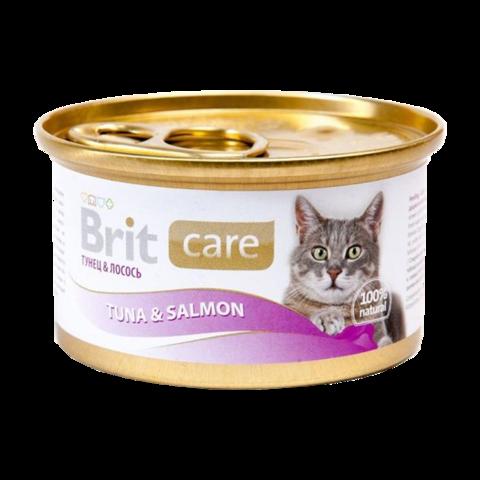 Brit Care Cat Консервы для кошек с тунцом и лососем