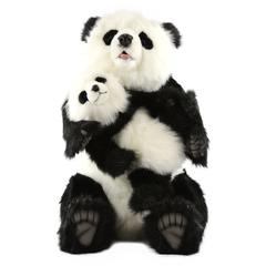 Hansa Панда с детенышем, 75 см(10%)  (5495)