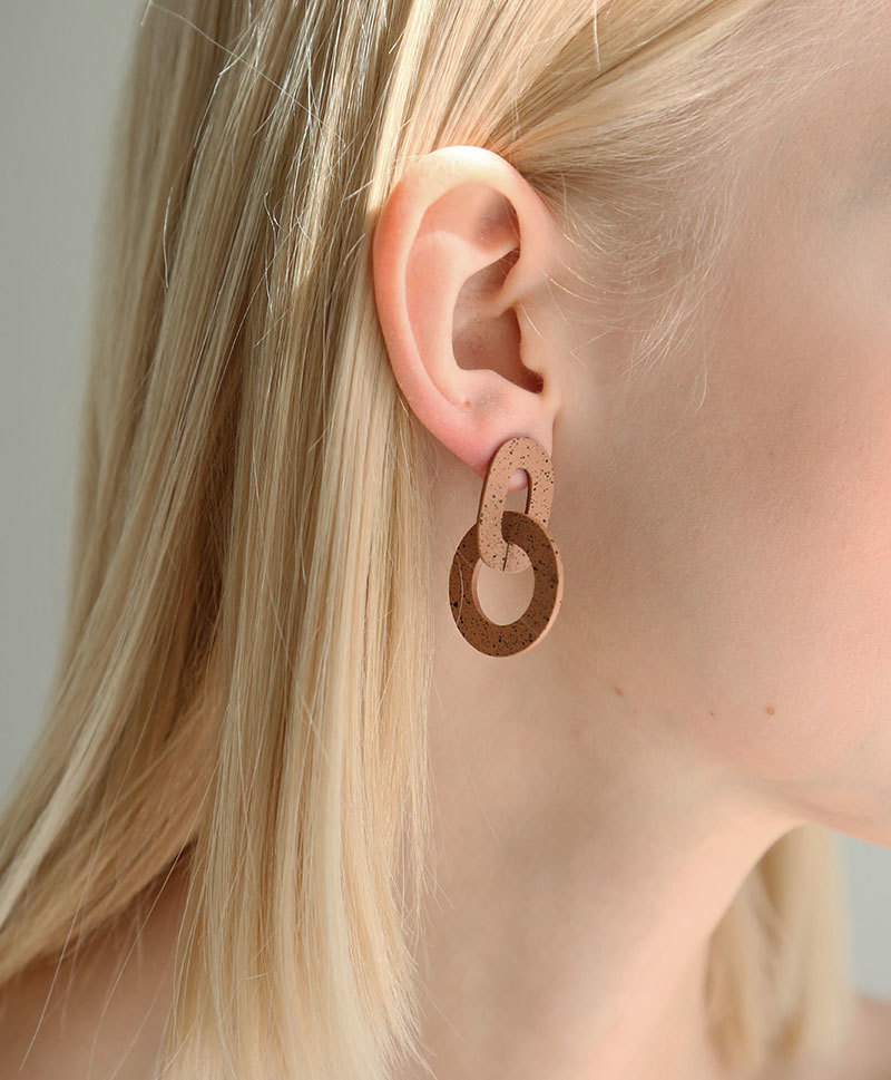 Серьги Orla I Earrings in Terracotta