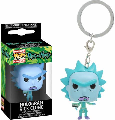 Брелок Funko Pocket POP! Keychain: Rick & Morty: Hologram Rick Clone