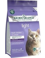 Низкокалорийный сухой корм для кошек, Arden Grange Adult Cat Light, диетический, беззерновой