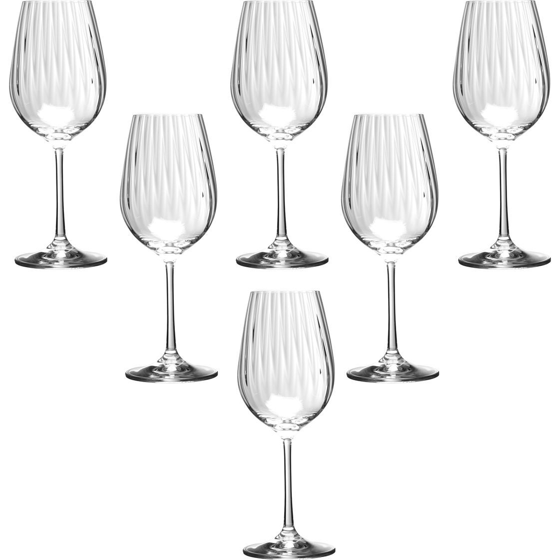 Набор бокалов для вина «Waterfall» 6 шт. 350 мл