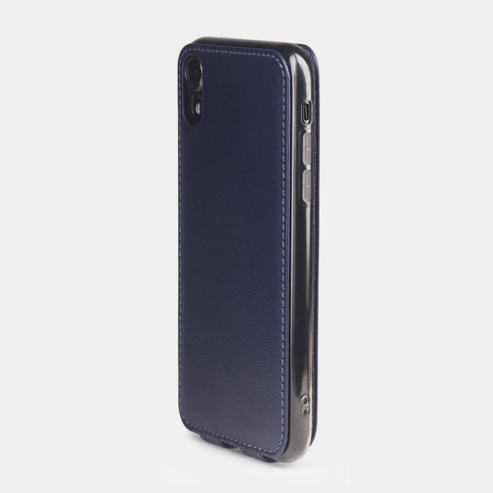 Чехол для iPhone XR из натуральной кожи теленка, цвета индиго
