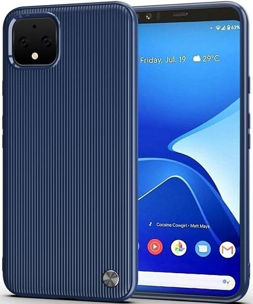 Чехол Google Pixel 4 цвет Blue (синий), серия Bevel, Caseport