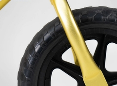 Беговел EcoBalance NEXT, сверхлегкий, 1,9 кг, золотой переднее колесо
