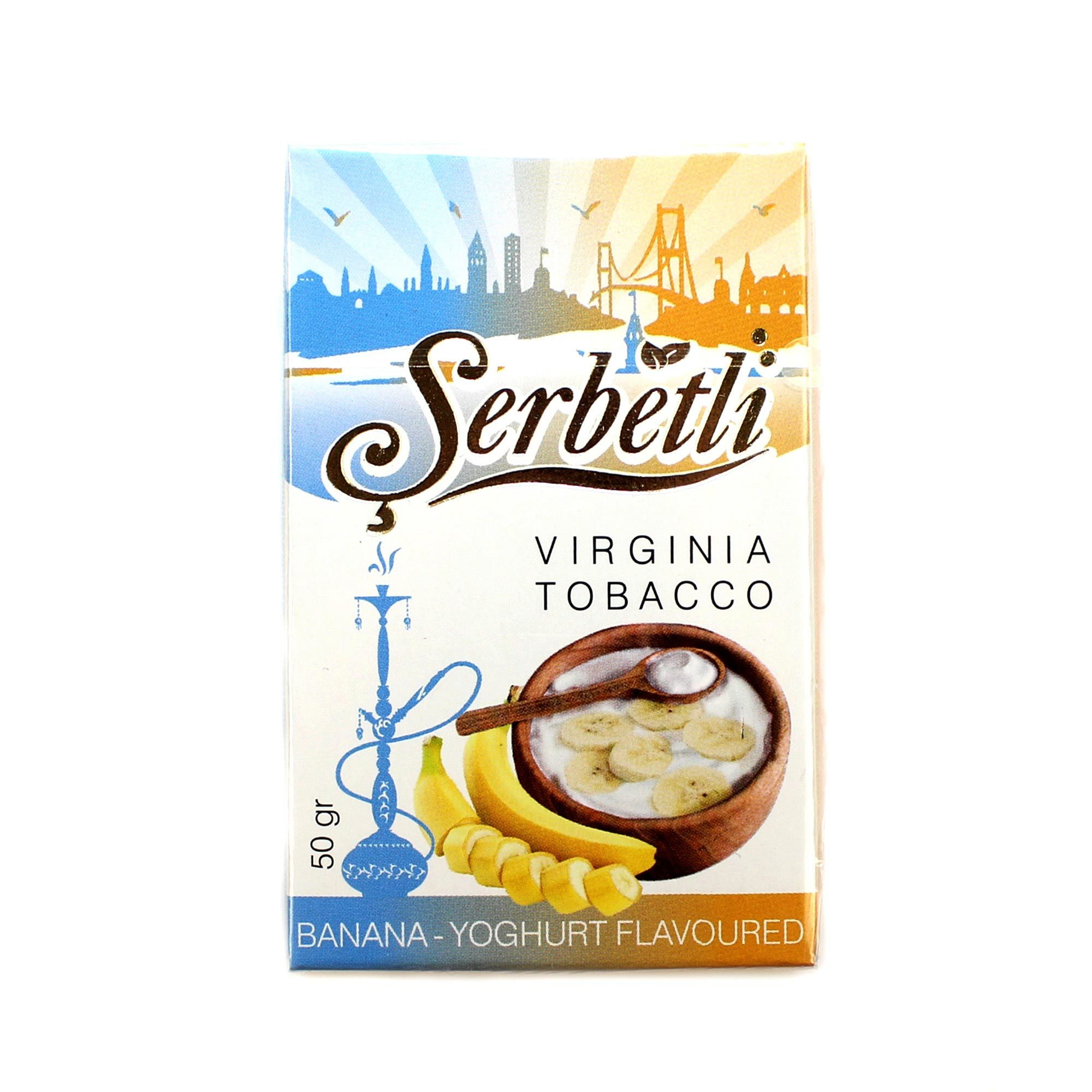 Табак для кальяна Serbetli Banana Yougurt 50 гр.