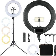 Кольцевая светодиодная лампа для профессиональной сьемки Mettle-led 21 PRO MAX 54 см