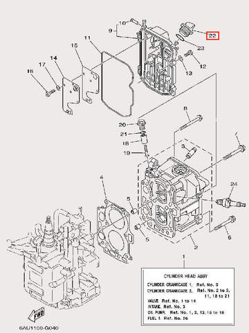 Пробка масляная для лодочного мотора F9,9 Sea-PRO (4-22)