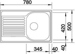 Мойка Blanco Tipo 45S Compact - схема
