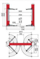 Подъёмник двухстоечный электромеханический BUTLER Torek 35H. Италия.