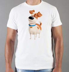 Футболка с принтом мультфильма Тайная жизнь домашних животных ( The Secret Life of Pets) белая 006