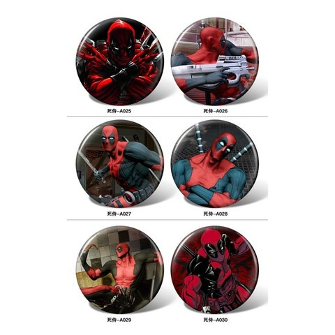 Deadpool pattern Badge