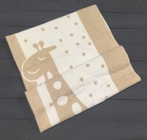 Vladi. Одеяло жаккардовое Чунга - Чанга 100% хлопок, 100х140 см, бело - бежевый
