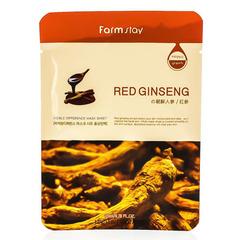 Farmstay Visible Difference Mask Sheet Red Ginseng - Тканевая маска для лица с экстрактом красного женьшеня