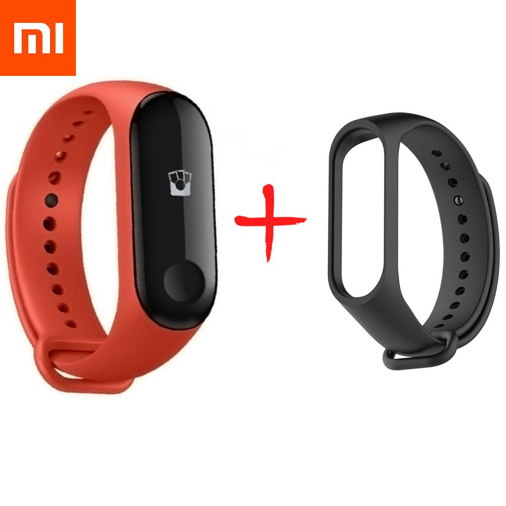 Браслет Xiaomi Mi Band 3 NFC (черный ремешок получаете в подарок)