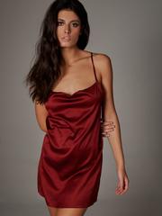 Платье короткое бордо Lilit