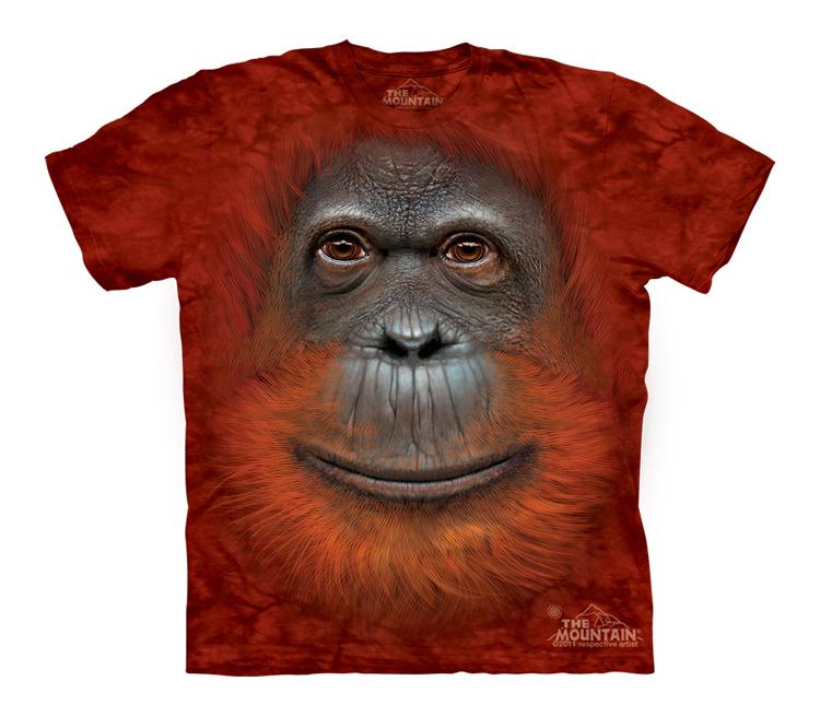 Футболка Mountain с изображением орангутана - Orangutan Face