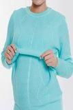 Джемпер для беременных и кормящих 07896 голубой