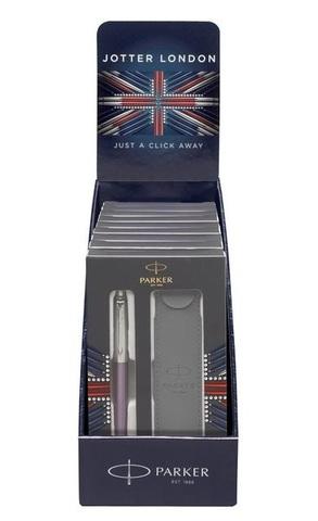 Подарочный набор с чехлом и Шариковая ручка Parker Jotter Essential, Victoria Violet CT,123