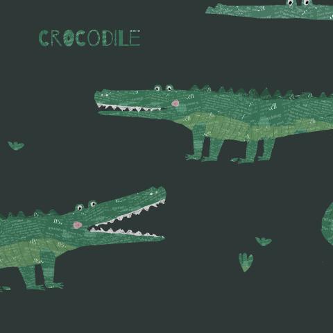 крокодил темный/ crocodile black