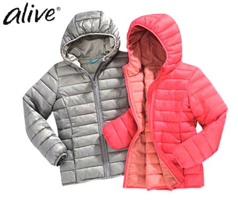 Куртка для девочки розовая Alive