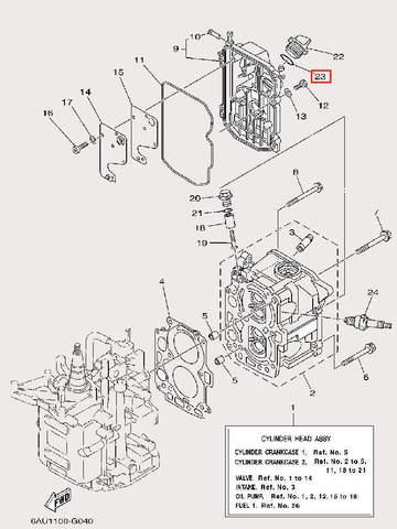 Кольцо уплотнительное для лодочного мотора F9,9 Sea-PRO (4-23)