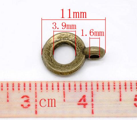Бейл 11х8 мм (цвет - античная бронза) ()
