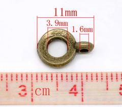 Бейл 11х8 мм (цвет - античная бронза)